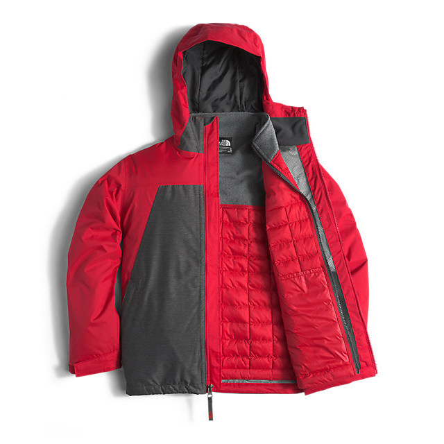 CHEAP NORTH FACE BOYS\' THERMOBALL TRICLIMATE RED ONLINE