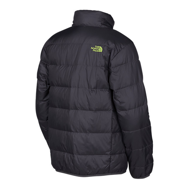 CHEAP NORTH FACE BOYS\' ANDES DOWN JACKET BLACK / SAFETY GREEN ONLINE
