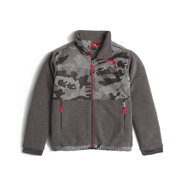 CHEAP NORTH FACE BOYS' DENALI JACKET GRAPHITE GREY MESH CAMO ONLINE