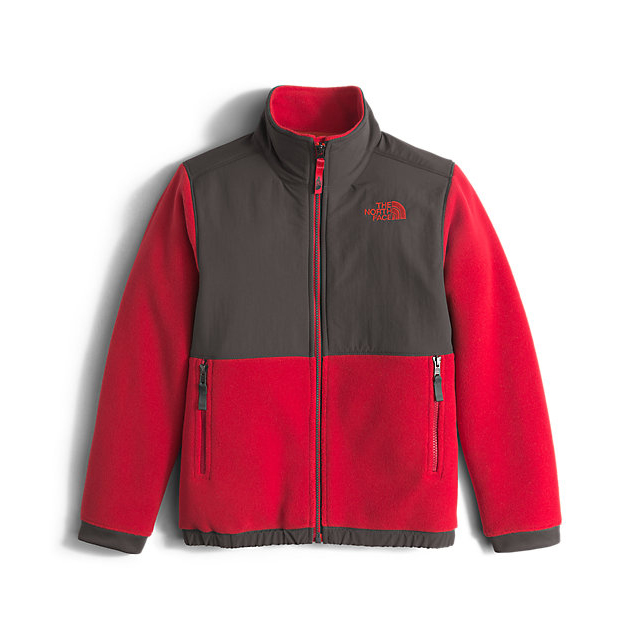 CHEAP NORTH FACE BOYS' DENALI JACKET GRAPHITE GREY / RED ONLINE