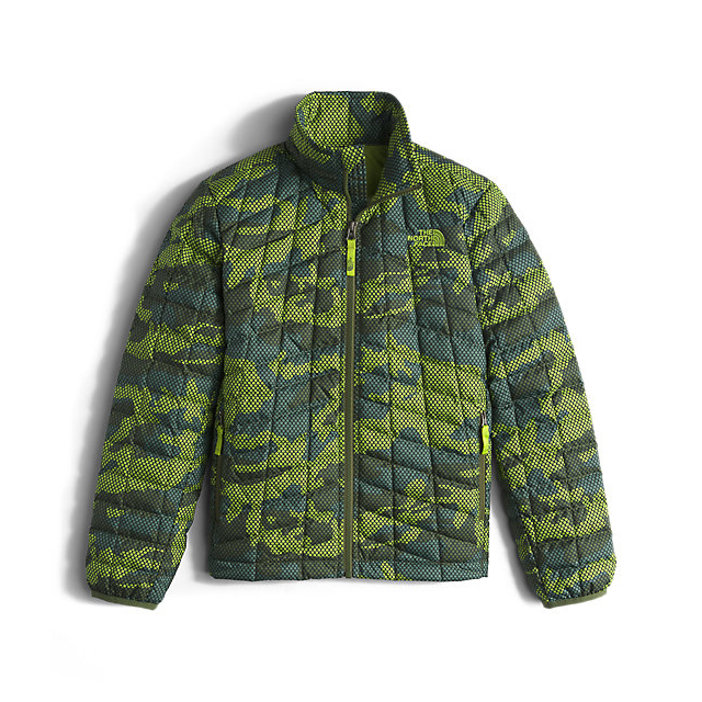 CHEAP NORTH FACE BOYS' THERMOBALL FULL-ZIP JACKET TERRARIUM GREEN MESH CAMO ONLINE