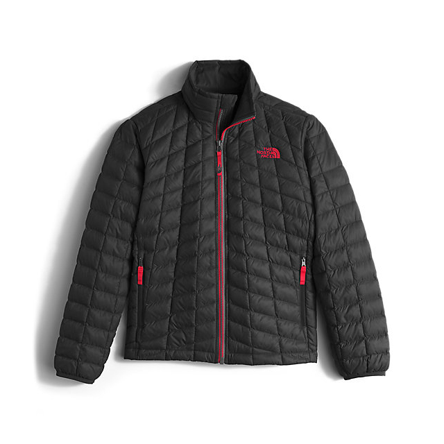 CHEAP NORTH FACE BOYS' THERMOBALL FULL-ZIP JACKET BLACK / RED ONLINE