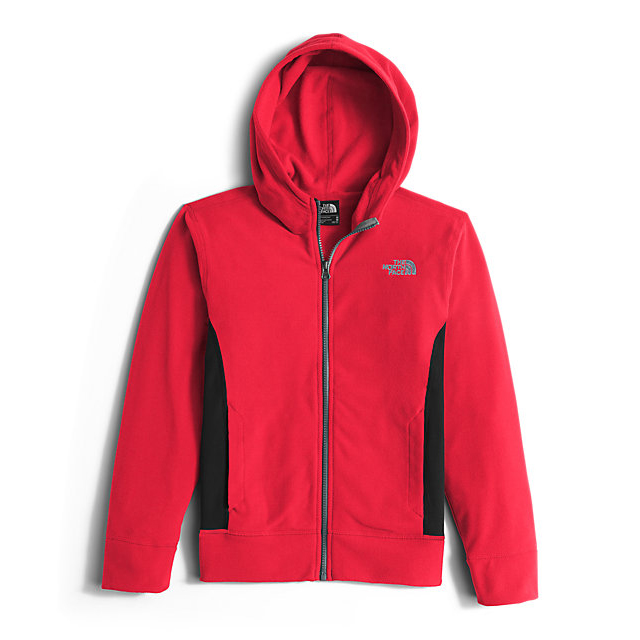 CHEAP NORTH FACE BOYS' GLACIER FULL ZIP HOODIE RED ONLINE
