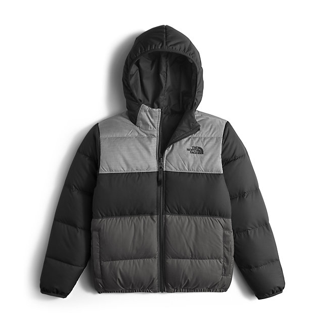 CHEAP NORTH FACE BOYS\' REVERSIBLE MOONDOGGY DOWN JACKET BLACK ONLINE