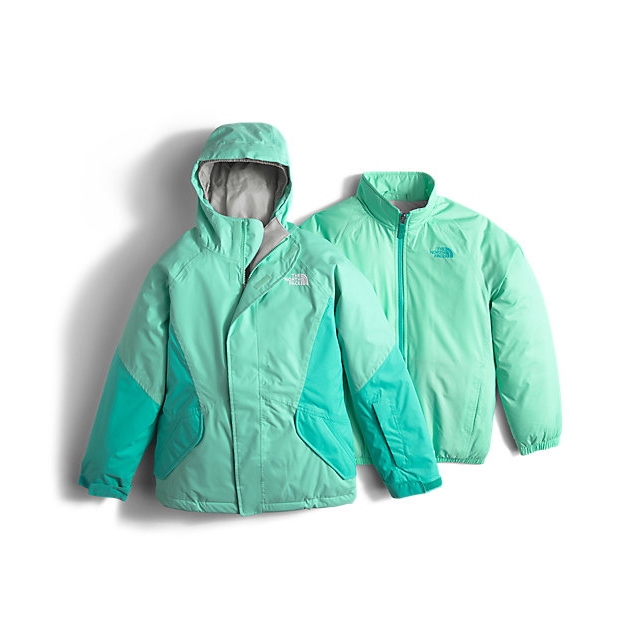 CHEAP NORTH FACE GIRLS' KIRA TRICLIMATE JACKET ICE GREEN ONLINE