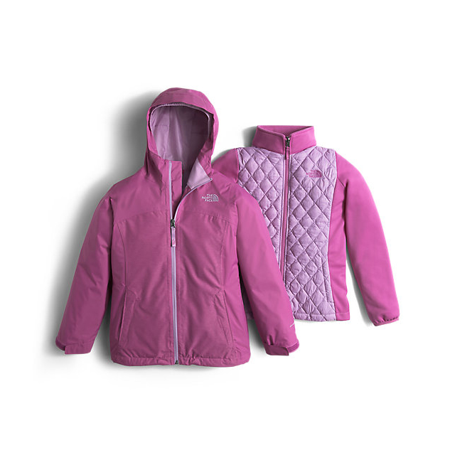 CHEAP NORTH FACE GIRLS\' THERMOBALL TRICLIMATE JACKET WISTERIA PURPLE HEATHER ONLINE