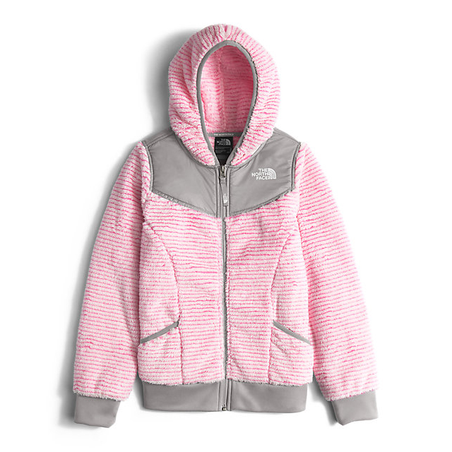 CHEAP NORTH FACE GIRLS\' OSO HOODIEGIRLS\' OSO HOODIE CHA CHA PINK STRIPE ONLINE