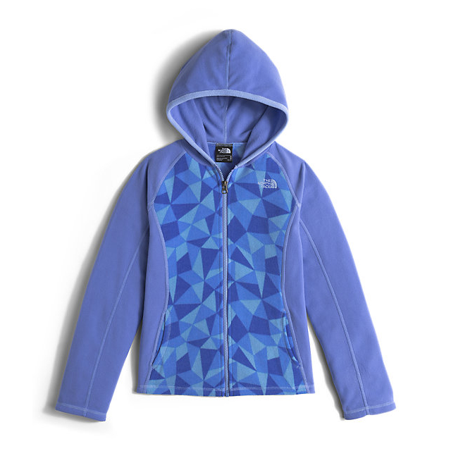 CHEAP NORTH FACE GIRLS\' GLACIER FULL ZIP HOODIE GRAPEMIST BLUE TRIANGLE CAMO ONLINE