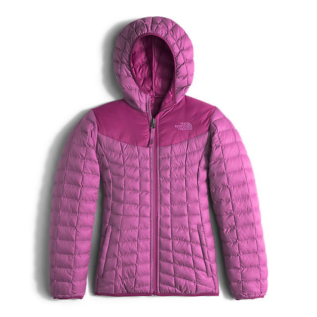 CHEAP NORTH FACE GIRLS' REVERSIBLE THERMOBALL HOODIE WISTERIA PURPLE ONLINE
