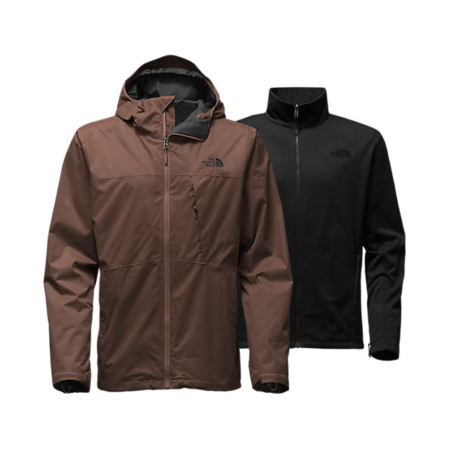 CHEAP NORTH FACE MEN'S ARROWOOD TRICLIMATE  JACKET COFFEE BEAN BROWN ONLINE