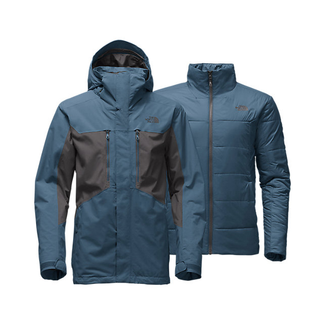 CHEAP NORTH FACE MEN'S CLEMENT TRICLIMATE  JACKET DIESEL BLUE / ASPHALT GREY ONLINE