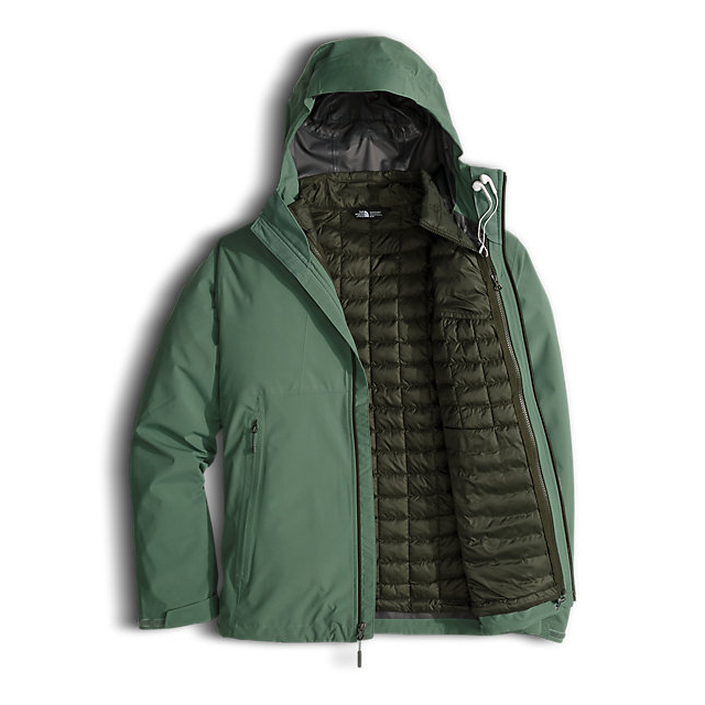 CHEAP NORTH FACE MEN\'S THERMOBALL  TRICLIMATE  JACKET DUCK GREEN ONLINE