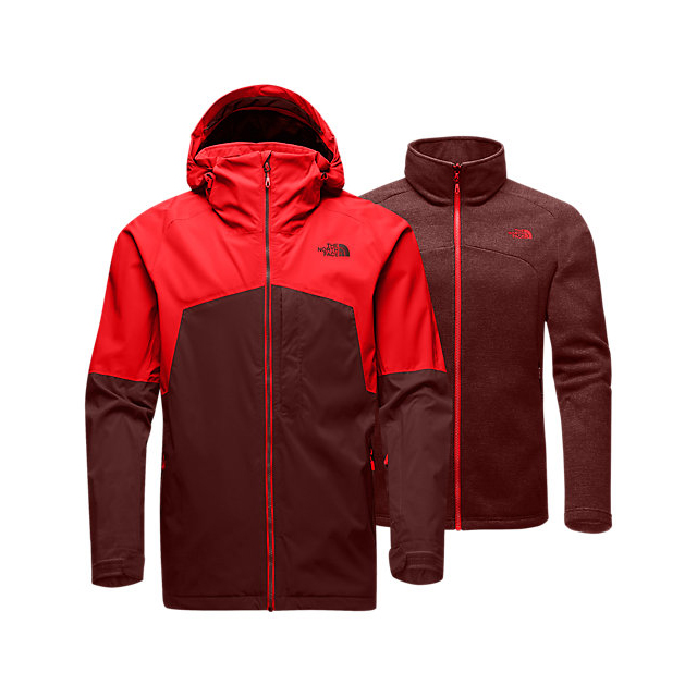 CHEAP NORTH FACE MEN'S GAMBIT TRICLIMATE JACKET FIERY RED/HOT CHOCOLATE BROWN ONLINE