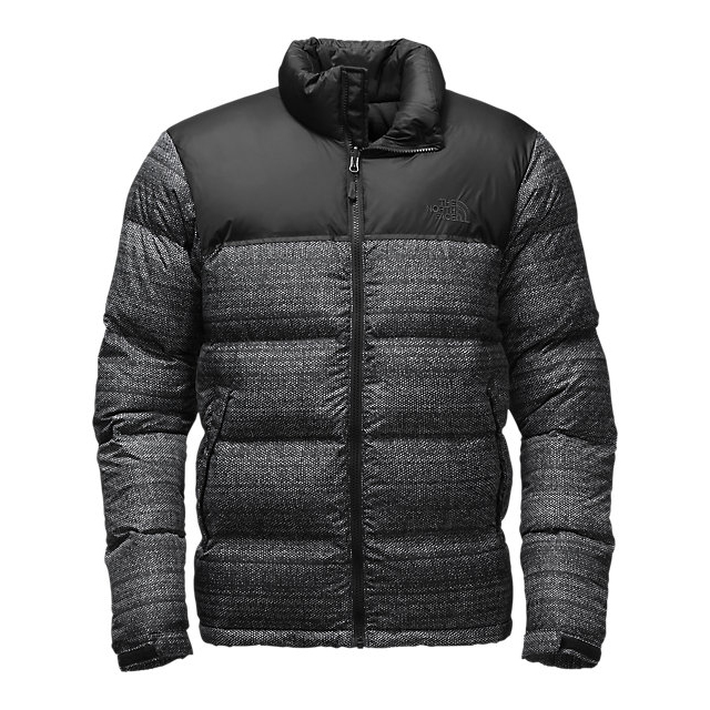 CHEAP NORTH FACE MEN'S NUPTSE JACKET BLACK TWITCH PRINT/BLACK ONLINE