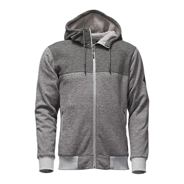 CHEAP NORTH FACE MEN'S TECH SHERPA FULL ZIP HOODIE MEDIUM GREY HEATHER ONLINE