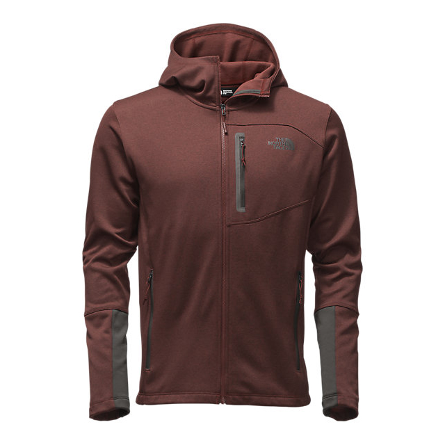 CHEAP NORTH FACE MEN'S CANYONLANDS HOODIE SEQUOIA RED HEATHER/ASPHALT GREY ONLINE