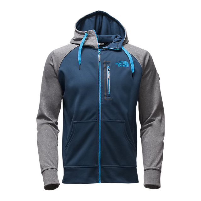 CHEAP NORTH FACE MEN\'S MACK MAYS FULL ZIP HOODIE SHADY BLUE/MEDIUM GREY HEATHER (STD) ONLINE