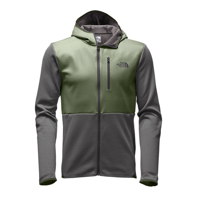 CHEAP NORTH FACE MEN'S HYBRID SLACKER FULL ZIP HOODIE TERRARIUM GREEN DARK HEATHER ONLINE