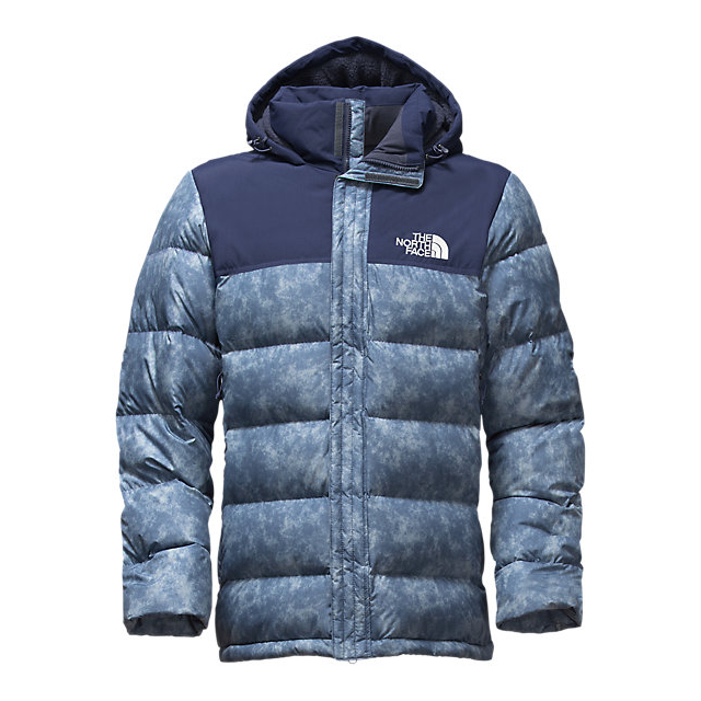 CHEAP NORTH FACE MEN'S NUPTSE RIDGE PARKA SHADY BLUE PROCESS PRINT/URBAN NAVY ONLINE