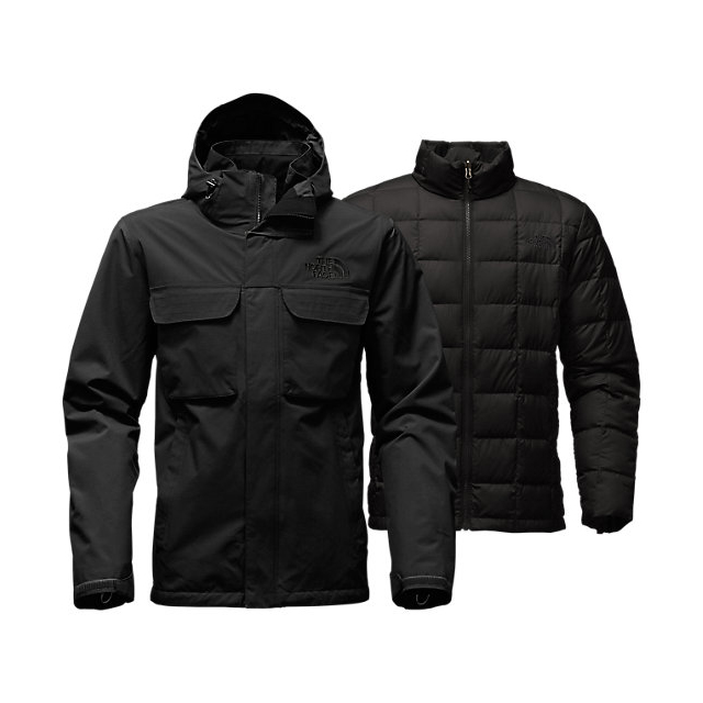 CHEAP NORTH FACE MEN'S HAUSER TRICLIMATE JACKET BLACK / BLACK ONLINE