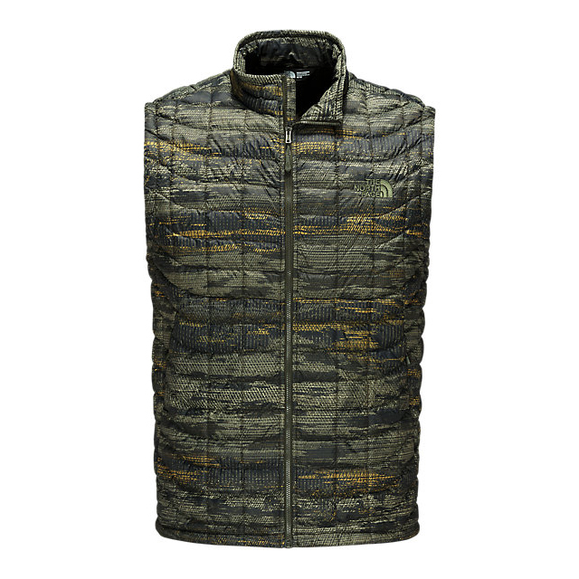 CHEAP NORTH FACE MEN'S THERMOBALL VEST ROSIN GREEN GLAMO PRINT ONLINE