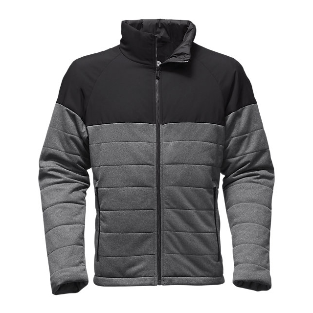 CHEAP NORTH FACE MEN'S SKOKIE INSULATED FULL ZIP MEDIUM GREY HEATHER/BLACK ONLINE