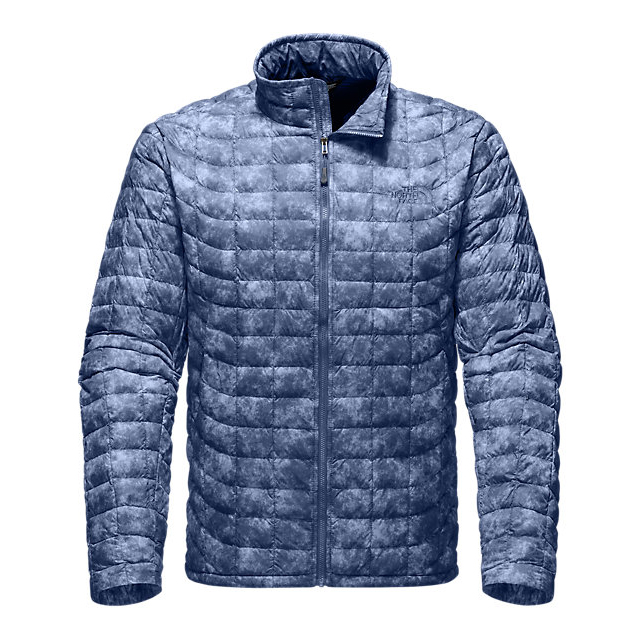 CHEAP NORTH FACE MEN'S THERMOBALL FULL ZIP JACKET SHADY BLUE PROCESS PRINT ONLINE