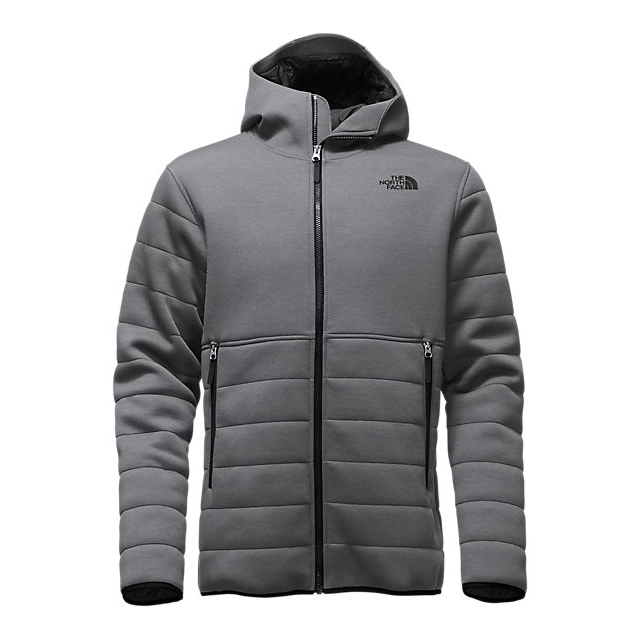 CHEAP NORTH FACE MEN'S HOODED HALDEE INSULATED JACKET DARK GREY HEATHER ONLINE