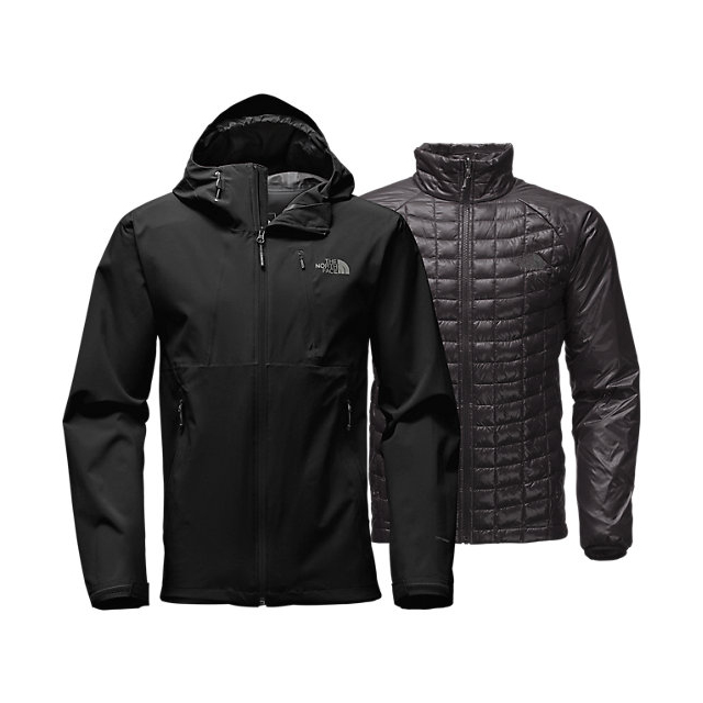 CHEAP NORTH FACE MEN'S THERMOBALL TRICLIMATE JACKET BLACK ONLINE