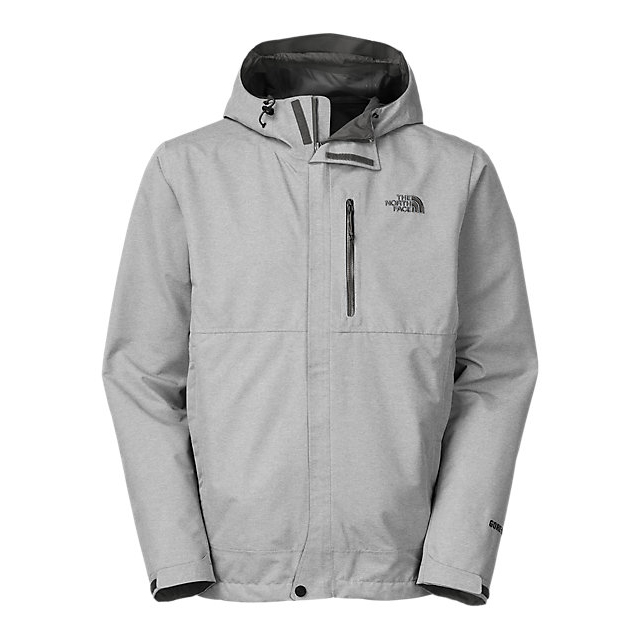 CHEAP NORTH FACE MEN'S DRYZZLE JACKET HIGH RISE GREY HEATHER / ASPHALT GREY ONLINE