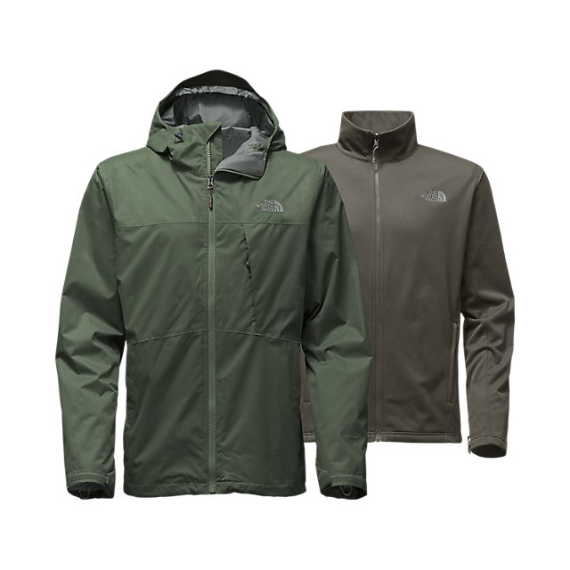 CHEAP NORTH FACE MEN'S ARROWOOD TRICLIMATE JACKET CLIMBING IVY GREEN ONLINE