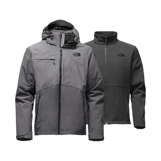 CHEAP NORTH FACE MEN'S CONDOR TRICLIMATE JACKET DARK GREY HEATHER-MEDIUM GREY HEATHER ONLINE
