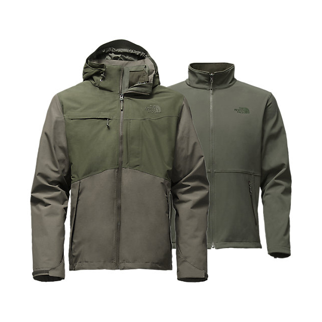 CHEAP NORTH FACE MEN'S CONDOR TRICLIMATE JACKET CLIMBING IVY GREEN HEATHER/ROSIN GREEN HEATHER ONLINE