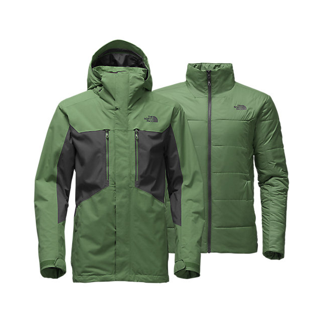 CHEAP NORTH FACE MEN'S CLEMENT TRICLIMATE JACKET VISTA GREEN/ASPHALT GREY ONLINE
