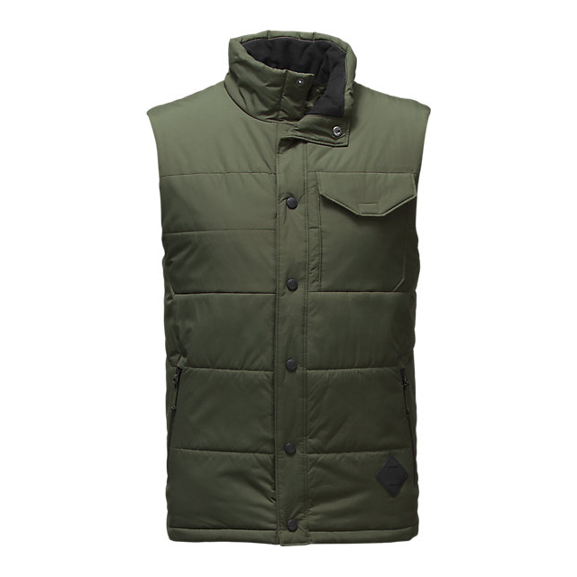 CHEAP NORTH FACE MEN\'S PATRICKS POINT VEST CLIMBING IVY GREEN ONLINE