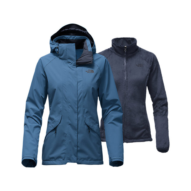 CHEAP NORTH FACE WOMEN'S BOUNDARY TRICLIMATE JACKET SHADY BLUE ONLINE