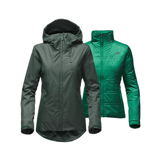 CHEAP NORTH FACE WOMEN'S CLEMENTINE TRICLIMATE  JACKET DARKEST SPRUCE ONLINE