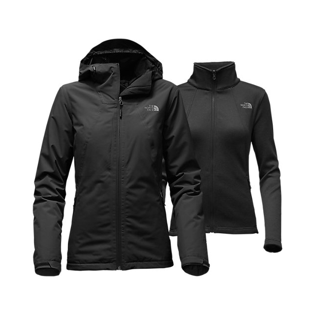 CHEAP NORTH FACE WOMEN'S HIGHANDDRY TRICLIMATE  JACKET BLACK ONLINE