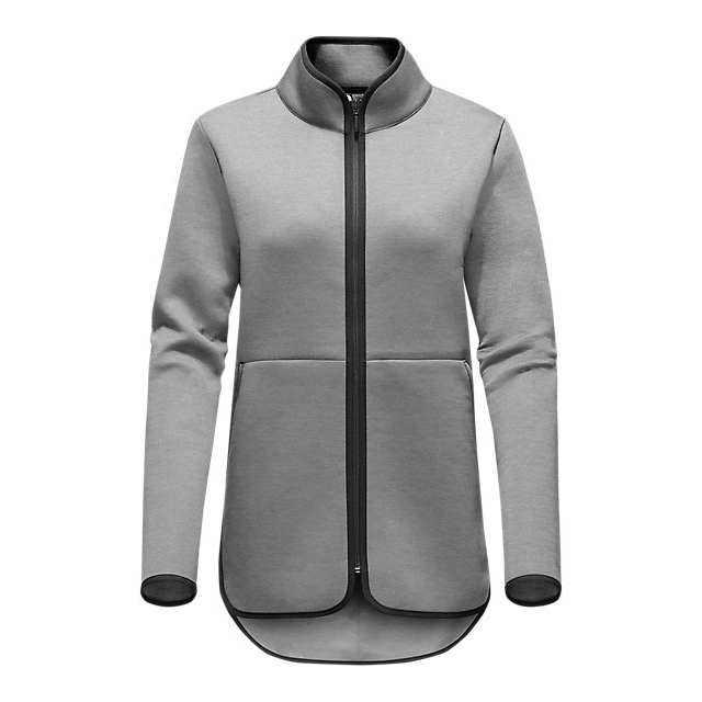 CHEAP NORTH FACE WOMEN'S THERMAL 3D FULL ZIP LIGHT GREY HEATHER ONLINE