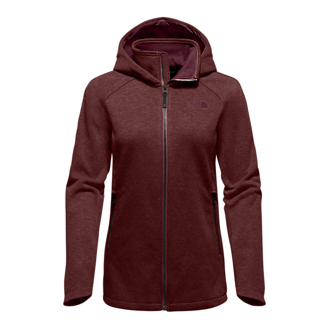 CHEAP NORTH FACE WOMEN'S FAR NORTHERN HOODIE DEEP GARNET RED HEATHER ONLINE