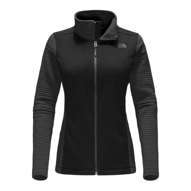 CHEAP NORTH FACE WOMEN'S INDI FULL ZIP JACKET BLACK HEATHER / BLACK ONLINE