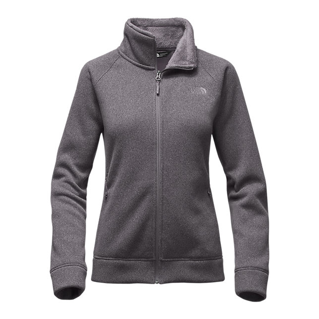 CHEAP NORTH FACE WOMEN\'S CRESCENT RASCHEL FULL ZIP JACKET RABBIT GREY HEATHER ONLINE