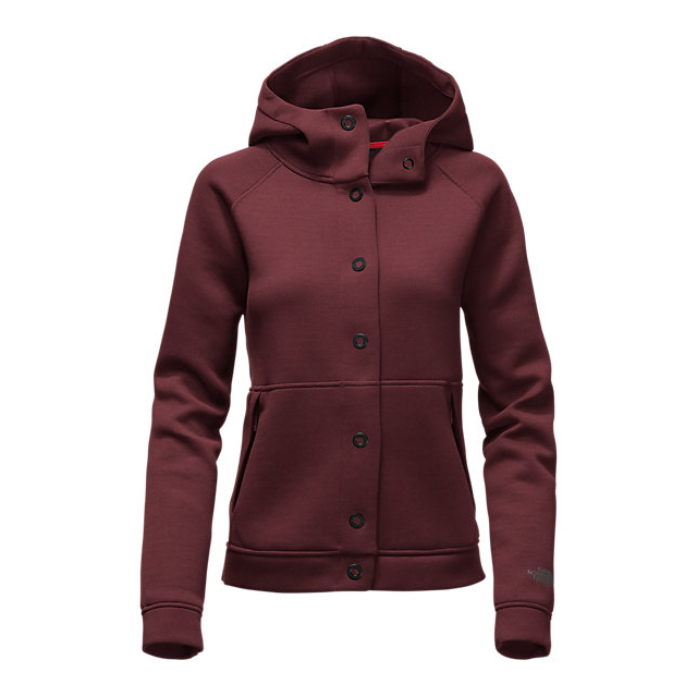 CHEAP NORTH FACE WOMEN'S THERMAL 3D SNAP HOODIE DEEP GARNET RED BLACK HEATHER ONLINE