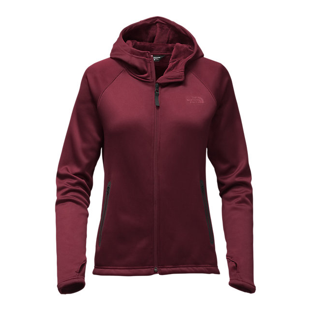 CHEAP NORTH FACE WOMEN'S TECH AGAVE HOODIE DEEP GARNET RED ONLINE