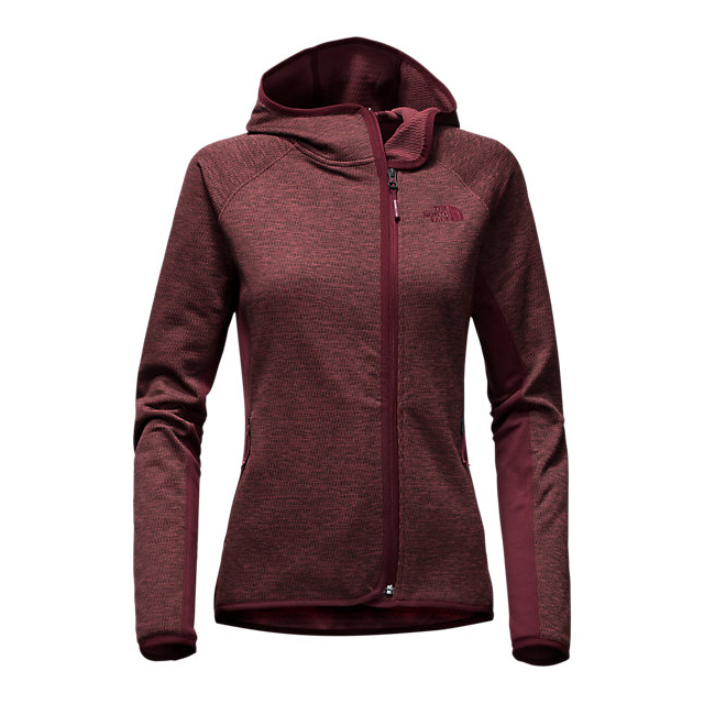 CHEAP NORTH FACE WOMEN'S ARCATA HOODIE DEEP GARNET RED HEATHER/DEEP GARNET RED ONLINE