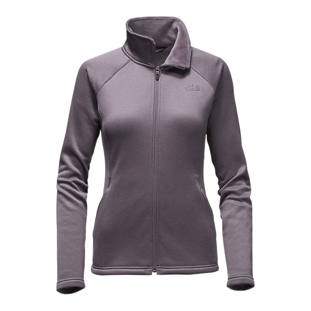 CHEAP NORTH FACE WOMEN'S AGAVE FULL ZIP RABBIT GREY HEATHER ONLINE