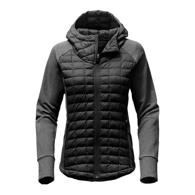CHEAP NORTH FACE WOMEN\'S ENDEAVOR THERMOBALL  JACKET BLACK / BLACK HEATHER ONLINE