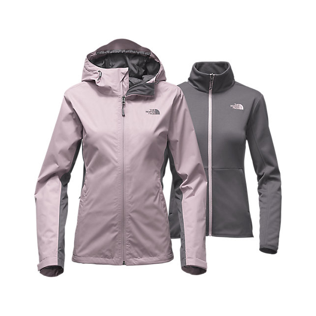 CHEAP NORTH FACE WOMEN'S ARROWOOD TRICLIMATE  JACKET QUAIL GREY/RABBT GREY ONLINE