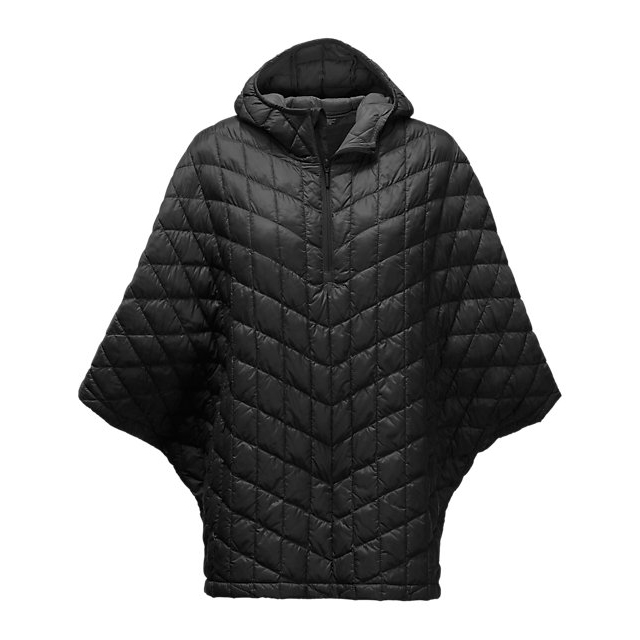 CHEAP NORTH FACE WOMEN'S THERMOBALL PONCHO BLACK ONLINE