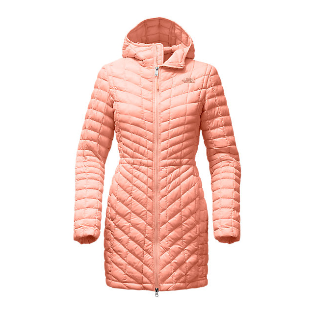 CHEAP NORTH FACE WOMEN'S THERMOBALL  HOODED PARKA TROPICAL PEACH ONLINE